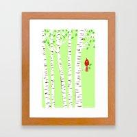 Spring Cardinal Wall Art Framed Art Print