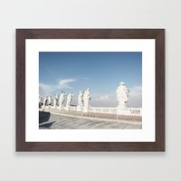 standing there - the cupola of st peter's basilica Framed Art Print