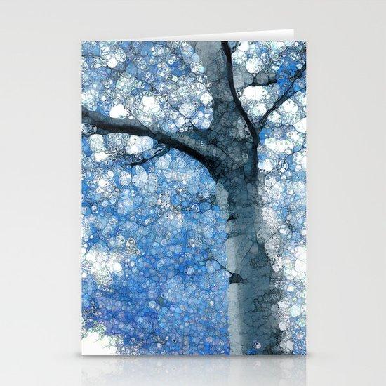Magic Blue Tree Stationery Card