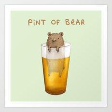 Pint of Bear Art Print