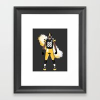 Steel Curtain - Emmanuel Sanders Framed Art Print