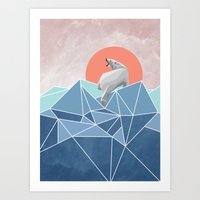 Polar Bear Live In North… Art Print