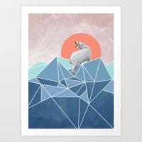 Polar Bear Live In North… Art Print