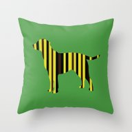 All The Lab Colors, Stri… Throw Pillow