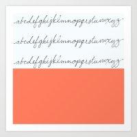 Alphabet-Coral  Art Print