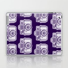I Still Shoot Film Holga Logo - Reversed Deep Purple Laptop & iPad Skin
