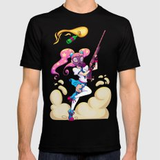 Riot Magical Girl Black Mens Fitted Tee SMALL