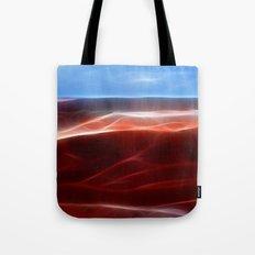 Artistic red Desert Tote Bag