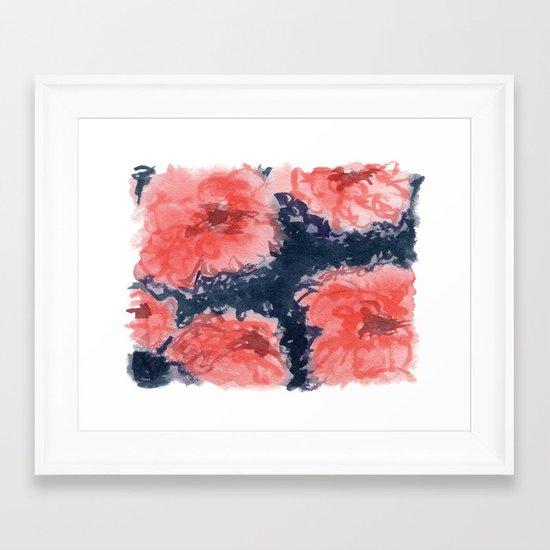 stark blumen framed art print by social proper society6. Black Bedroom Furniture Sets. Home Design Ideas