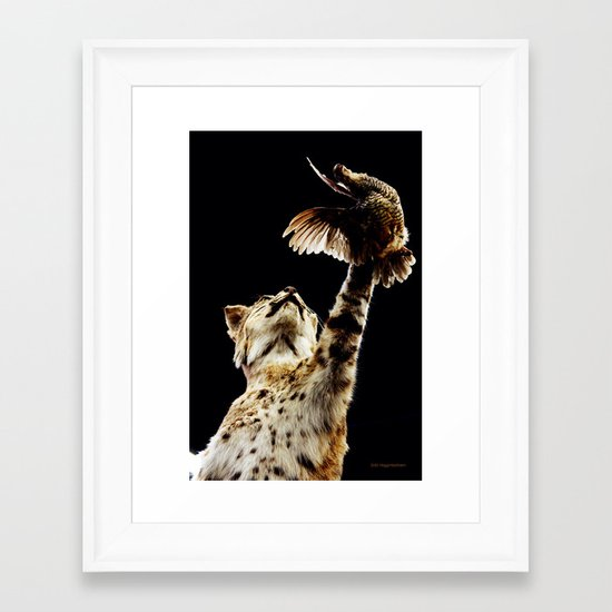 He Got Away Framed Art Print