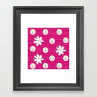 Swirl Dots & Flowers Framed Art Print