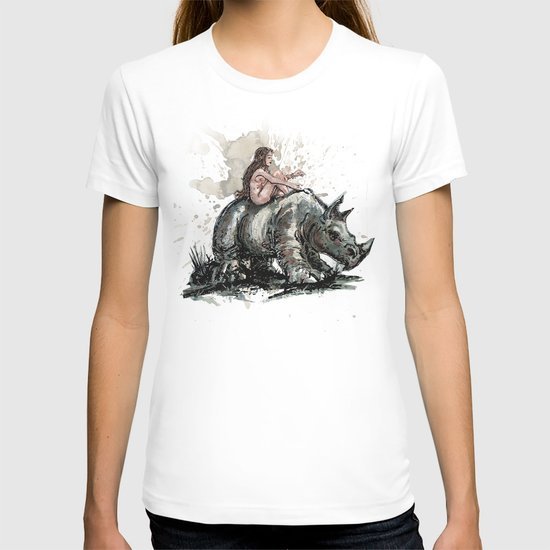 The Girl and the Rhino T-shirt