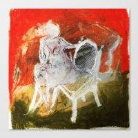Woman & Chair Canvas Print