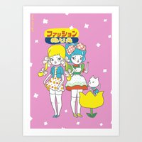 Retro Anime Art Print