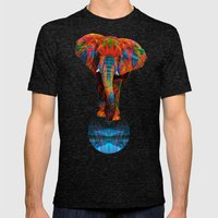 Elephant Mens Fitted Tee Tri-Black SMALL