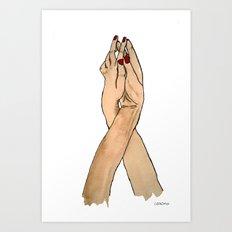 Lovely Hands Art Print