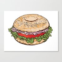 Bagel Sandwich Canvas Print