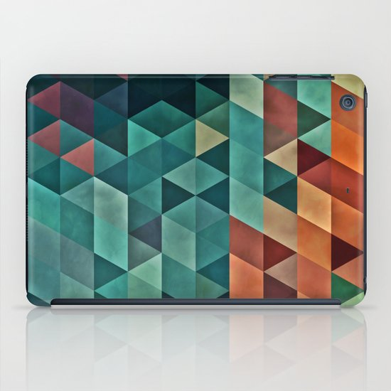 Teal/Orange Triangles iPad Case