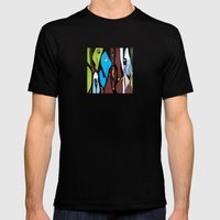 the SECRET MEETING of the ALTERED MINDS Mens Fitted Tee Black SMALL