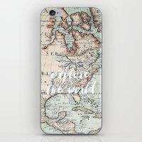 explore the world iPhone & iPod Skin