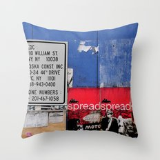 Street Collage II Throw Pillow