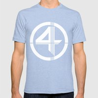 Fantastic Mens Fitted Tee Tri-Blue SMALL