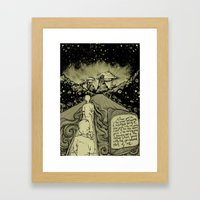 River Fireflies Framed Art Print