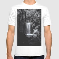 Ohiopyle's Cucumber Falls Mens Fitted Tee SMALL White