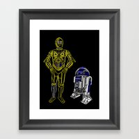 C3TYPO And R2TYPO Framed Art Print