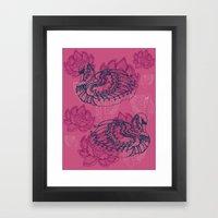 Hamsa, the swan Framed Art Print
