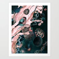Flower Egg Art Print
