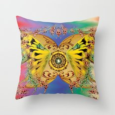 The dance of the butterfly Throw Pillow