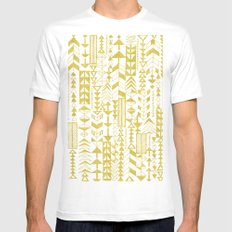 Golden Doodle arrows White Mens Fitted Tee SMALL