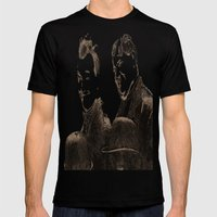 Laurel and Hardy Mens Fitted Tee Black SMALL