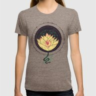 Lotus Womens Fitted Tee Tri-Coffee SMALL