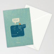 Whale Says Hello to Bird Stationery Cards