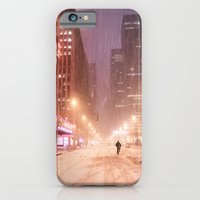 New York City - Blizzard and City Streets iPhone 6 Slim Case