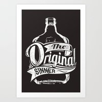 The original sinner Art Print