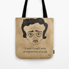 Poe Cat Tote Bag