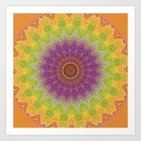 Mandala Imagining Marrak… Art Print