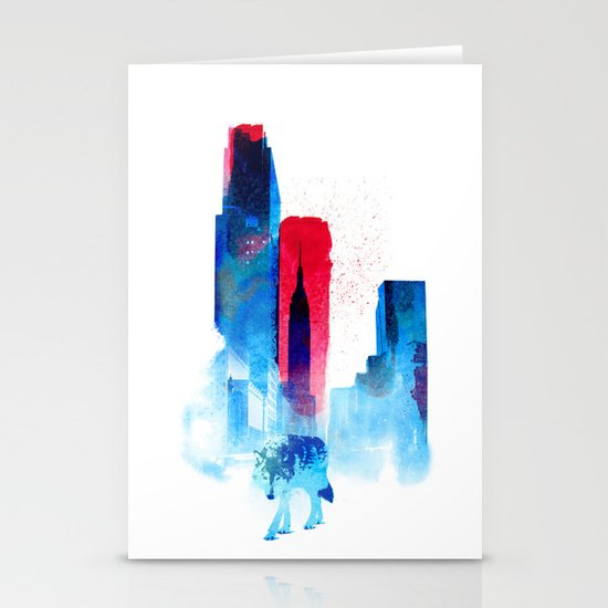The wolf of the City Stationery Card