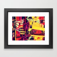 Industrial Abstract Red Framed Art Print