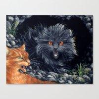 Yellowfang and Firepaw Canvas Print