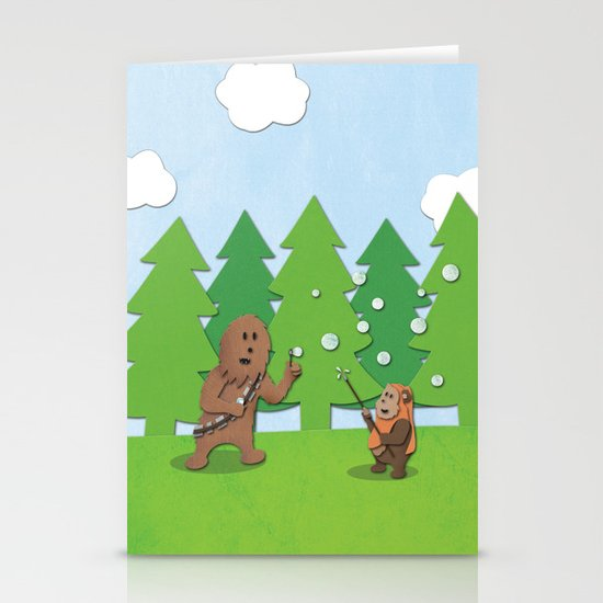 SW Kids - Chewie Bubbles Stationery Card