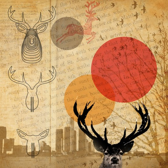 deer in the city Canvas Print