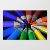 Multi Color Pencils Canvas Print