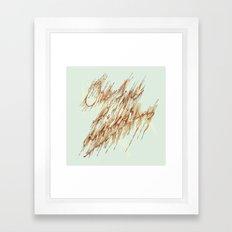One Fine Lickin. Framed Art Print