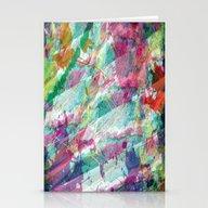 Bright Color Splash Abst… Stationery Cards