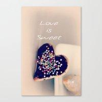 Love is Sweet  - JUSTART © Canvas Print
