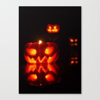 Glowing Halloween Canvas Print